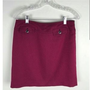 COPY - Ann Taylor LOFT Pink & Black Skirt